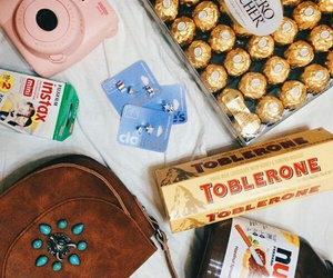 nutella, instax mini 8, and toblerone image