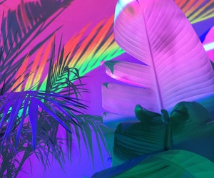 rainbow, neon, and grunge image