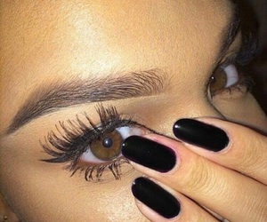 nails, eyebrows, and eyes image