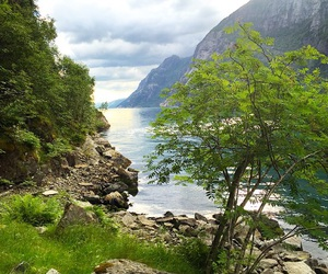adventure, fjord, and nature image