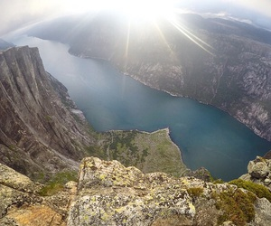 adventure, blue, and fjord image