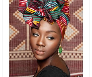 African, black, and foulard image