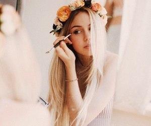 girl, flowers, and scarlett leithold image