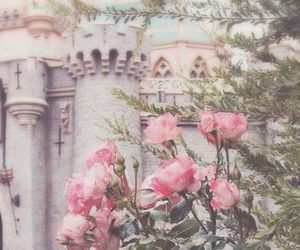 castle, roses, and flowers image