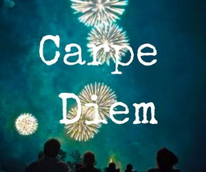 carpe diem, quote, and easel image