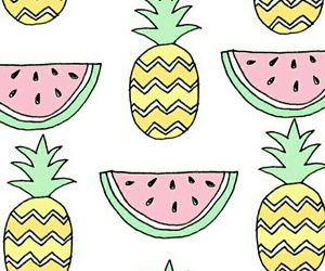 ananas, pineapple, and watermelon image