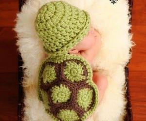 baby, cute, and turtle image