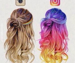 instagram, hair, and art image