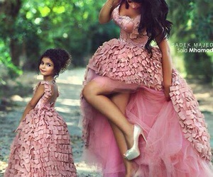 dress, pink, and daughter image
