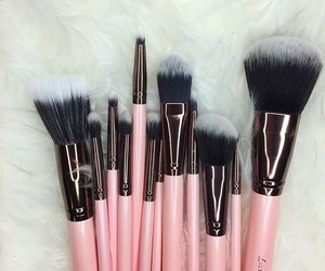 makeup, pink, and Brushes image