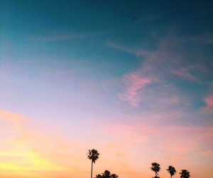blue, summer, and sunset image