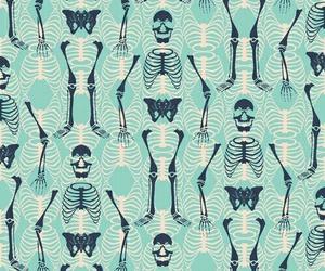 wallpaper, background, and skeleton image