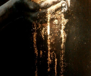 hands, gold, and magic image