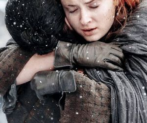 jon snow, sansa stark, and game of thrones image