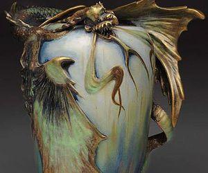 ceramics, dragon, and pottery image