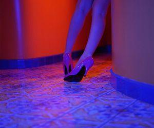 neon, girl, and glow image