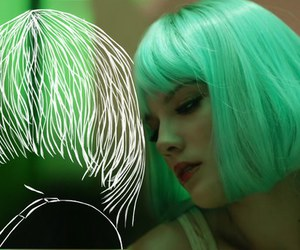 halsey, green, and aesthetic image