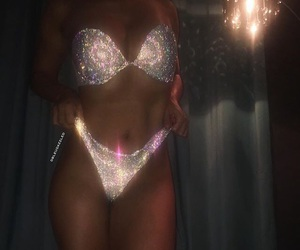 bling, body, and glitter image