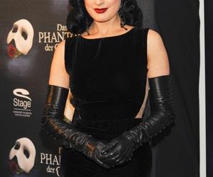 black dress, black hair, and burlesque image