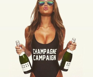 champagne, fashion, and girl image