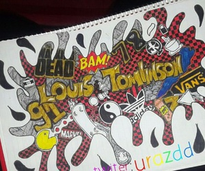 1d, louis tomlinson, and directioner image