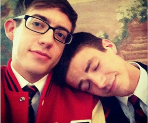 glee, grant gustin, and kevin mchale image