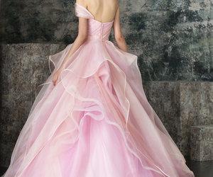 dress, roses, and beautiful image