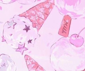 pink, cute, and ice cream image