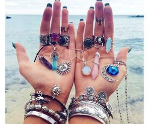rings, summer, and bracelet image