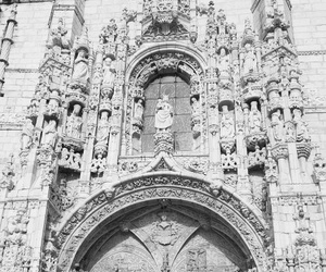 aesthetic, church, and black & white image