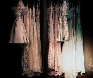 dress, clothes, and glitter image