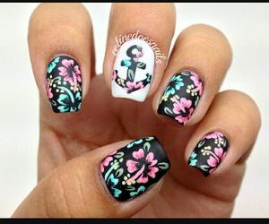 dessin, nail art, and ongle image