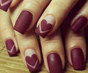 nails, heart, and red image