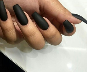 nails, black, and matte image