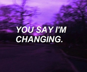 quotes, purple, and grunge image
