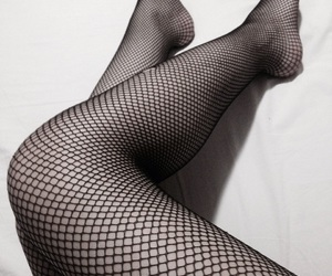 fishnets, legs, and me image