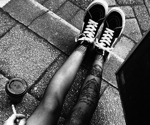 black and white, sad, and shoes image