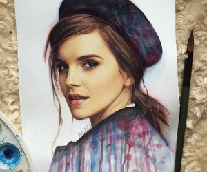 emma watson, actress, and art image