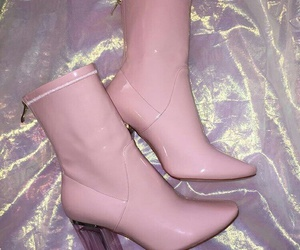 pink, boots, and fashion image