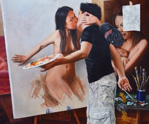 art, love, and kiss image