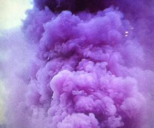 blow, purple, and smoke image