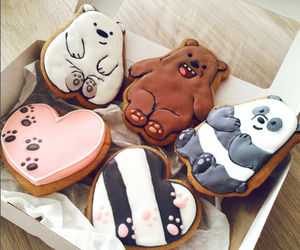 food, Cookies, and bear image