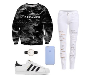 adidas, dreamer, and iphone image