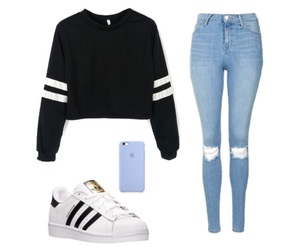 adidas, iphone, and jeans image