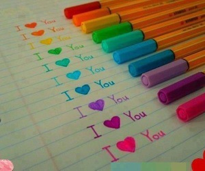 I Love You and colors image