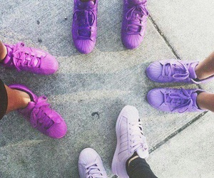 adidas, colors, and purple image