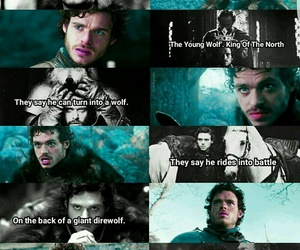 game of thrones, robb stark, and king of the north image