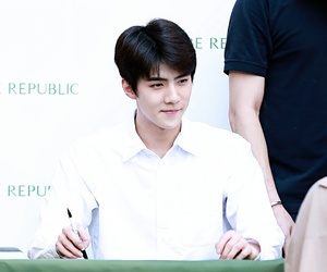 exo, fansign, and sehun image
