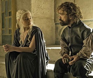 game of thrones, daenerys targaryen, and tyrion lannister image