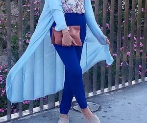 blue, hijab, and fashion image